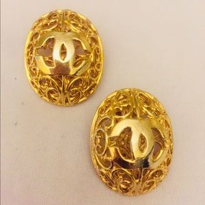 Vintage Chanel caged earrings